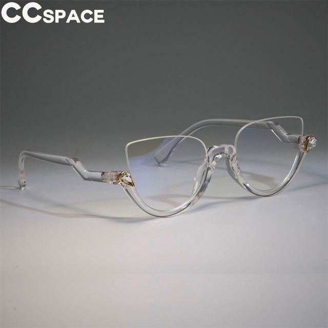 Photo of Half Frame Cat Eye Glasses Frames Women Trending Styles CCSPACE Designer Fashion Computer Glasses Lunette 45159