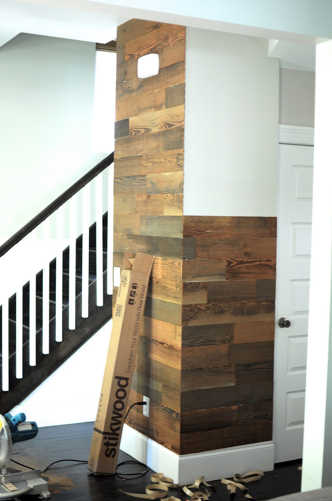 real wood decor stikwood is a peel and stick real wood decor rethink your walls DIY Stikwood Installation