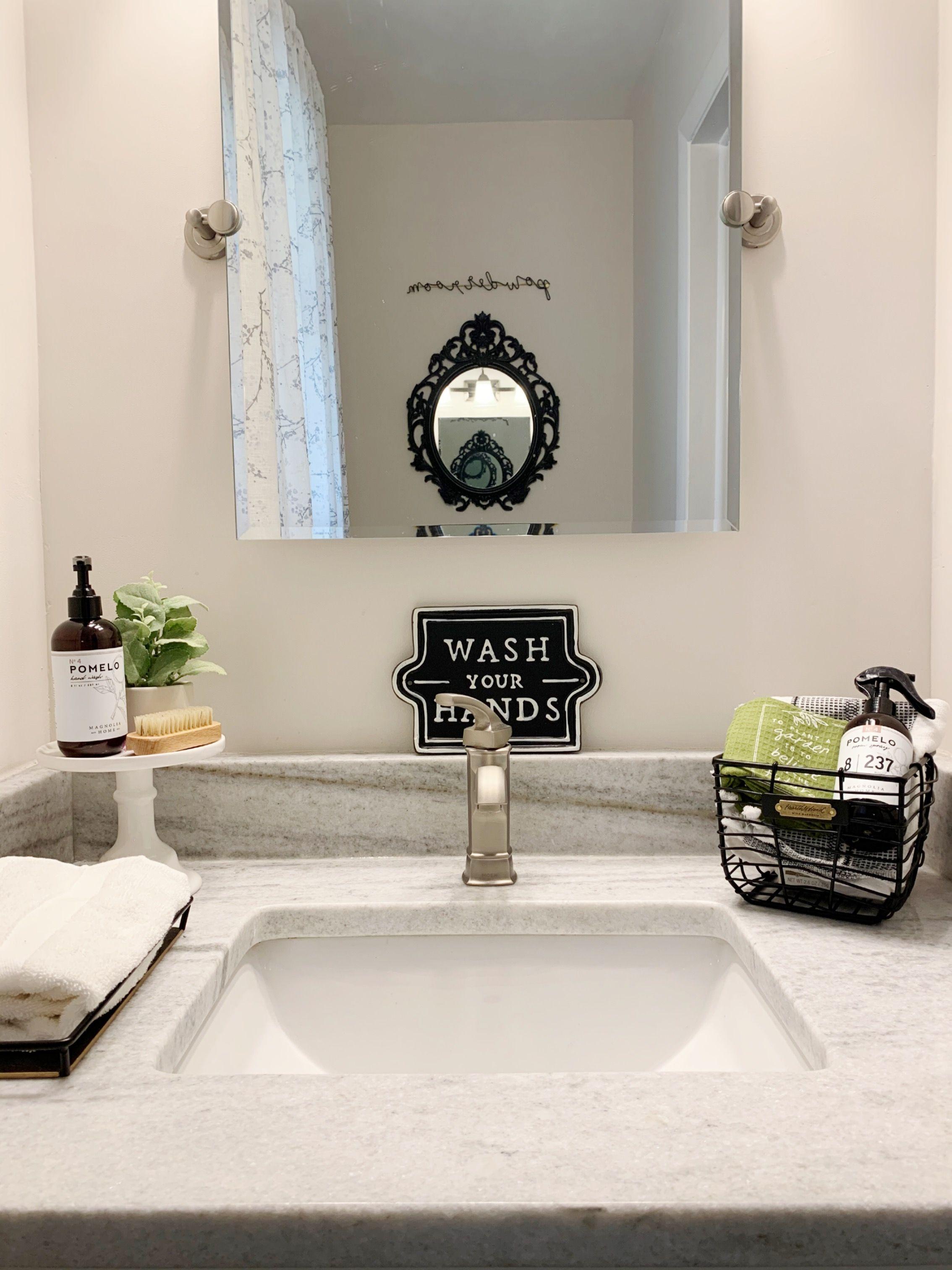 Modern Farmhouse Bathroom Guest Bathroom Remodel Magnolia Bathroom Decor Hearth And Hand Bathroom decor at target