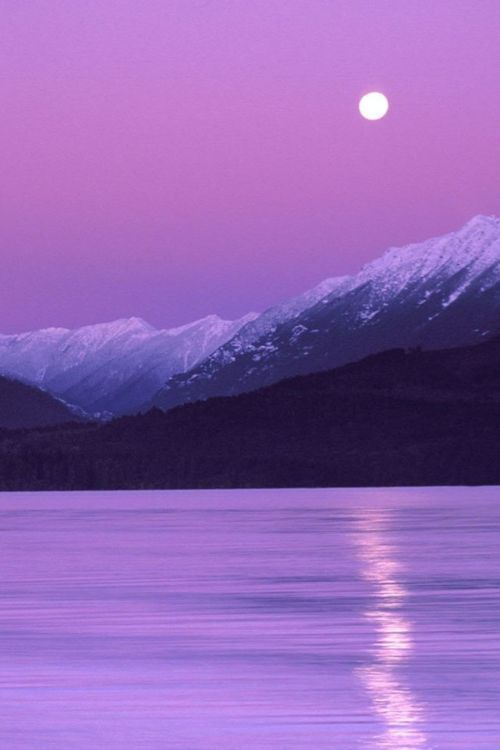 Landscape Paintings And Photographs Purple Sunset All Of My Favorite Things Combined Purple Moon Mountains And W In 2020 Beautiful Photography Nature Purple Sunset Beautiful Nature