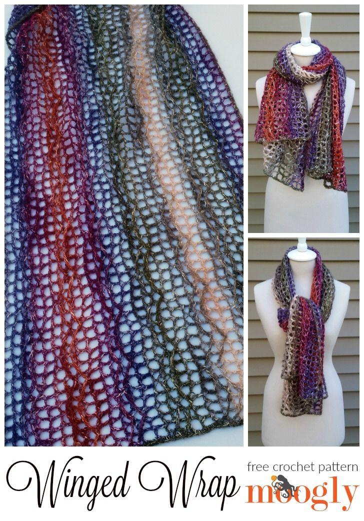 Winged Wrap: free crochet pattern on Mooglyblog.com! | Ponchos ...
