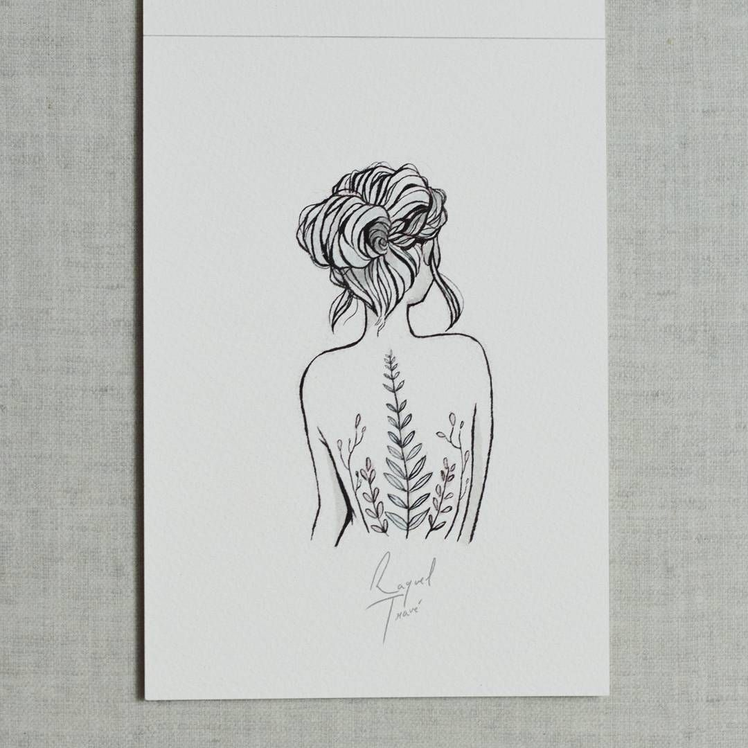 Tattoo idea silhouette of a girl but entire body set up