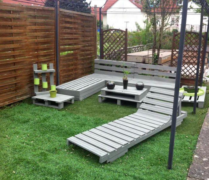 Salon de jardin en palette design idée meubles en bois ...