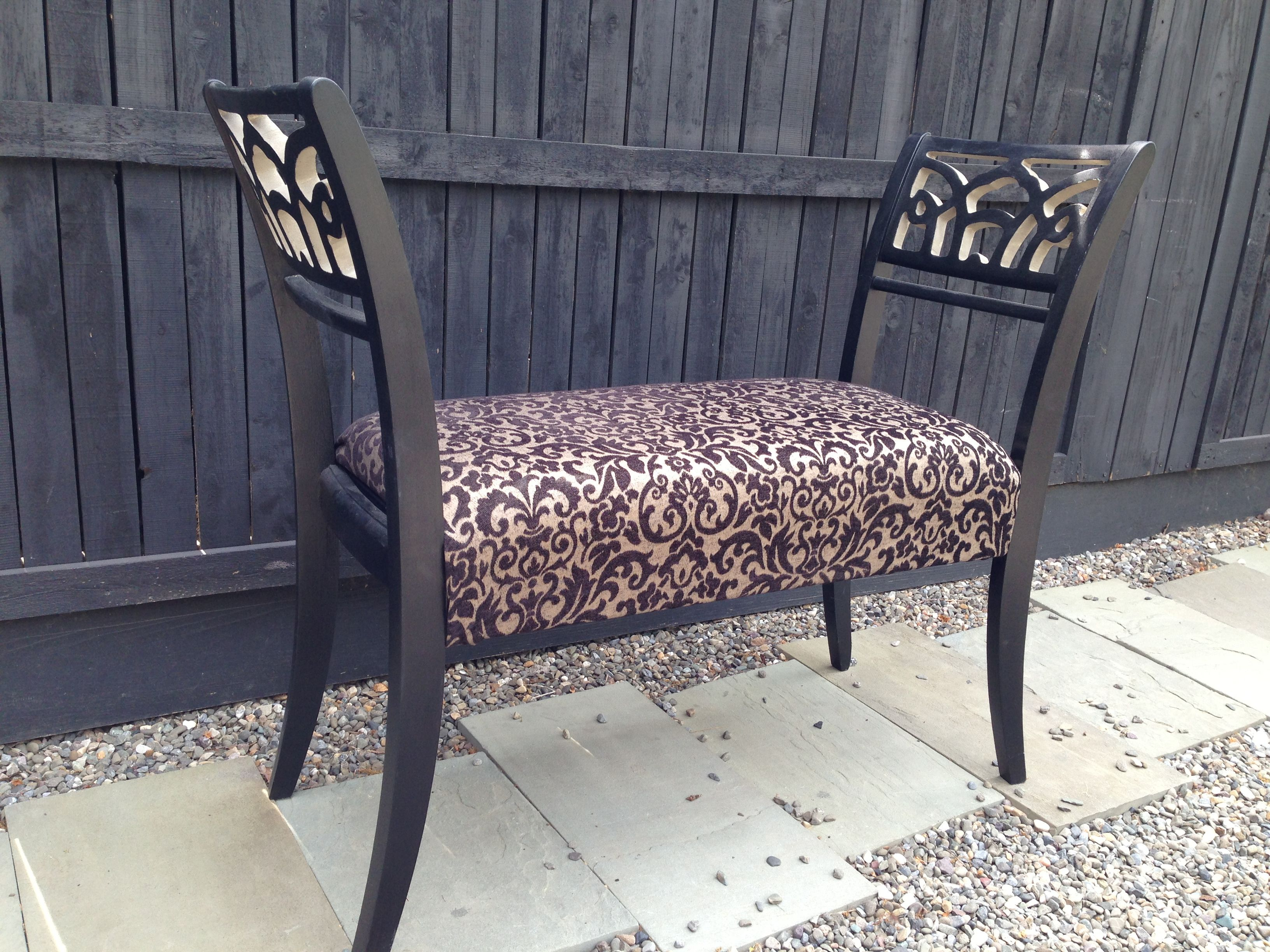 Stupendous Repurposed Dining Chairs Made Into Bench Seating One Of My Caraccident5 Cool Chair Designs And Ideas Caraccident5Info