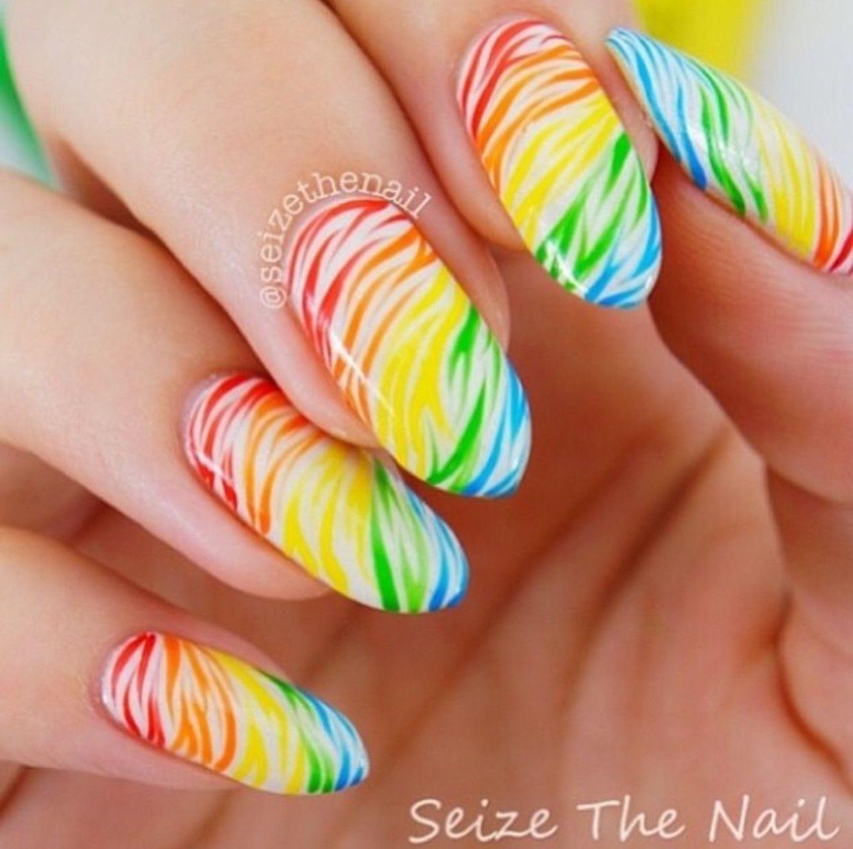 Colorful Zebra Mani
