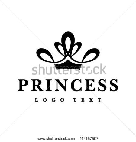 Princess Crown Text Symbol