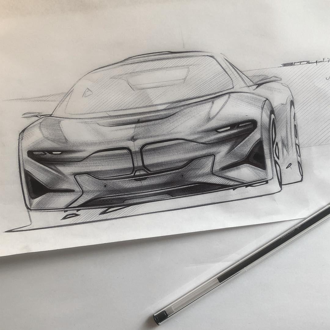 BMW I9 Idea | Ballpoint + Whiteout + Sharpie | #automotivedesign  #transportdesign #industrialdesign #design #cardesign #cardesigndailyu2026