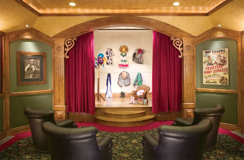 25 Creative And Unique Playroom Ideas For Your Kids Home Theater Rooms Theater Room Design Movie Room Decor