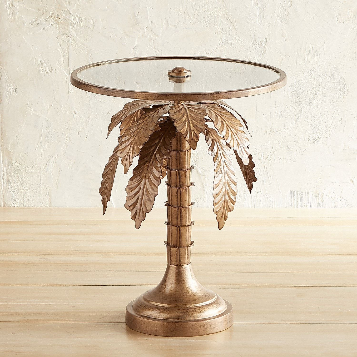 Palm Tree Accent Table Outdoor Coffee Tables Side