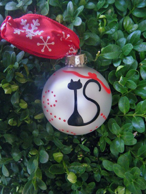 Christmas Cat Ornament Personalized by ...