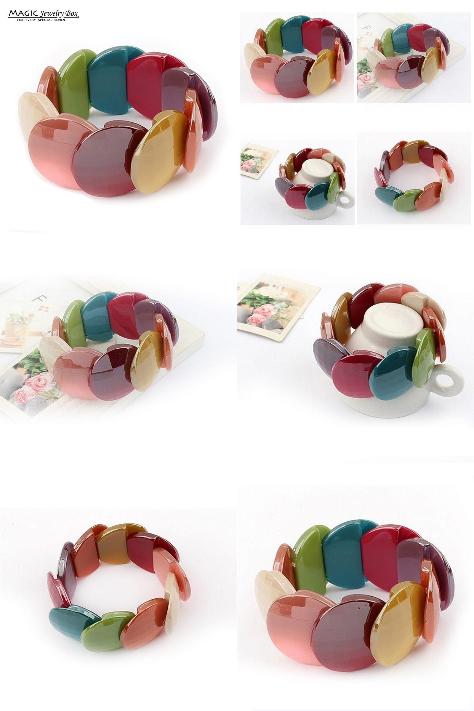 Visit to buy original womenus bohemian resin bubble bangles