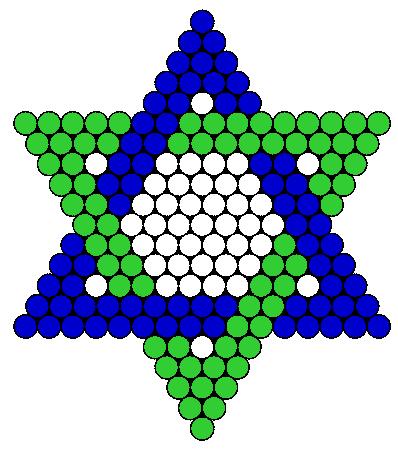 Jewish Star bead pattern