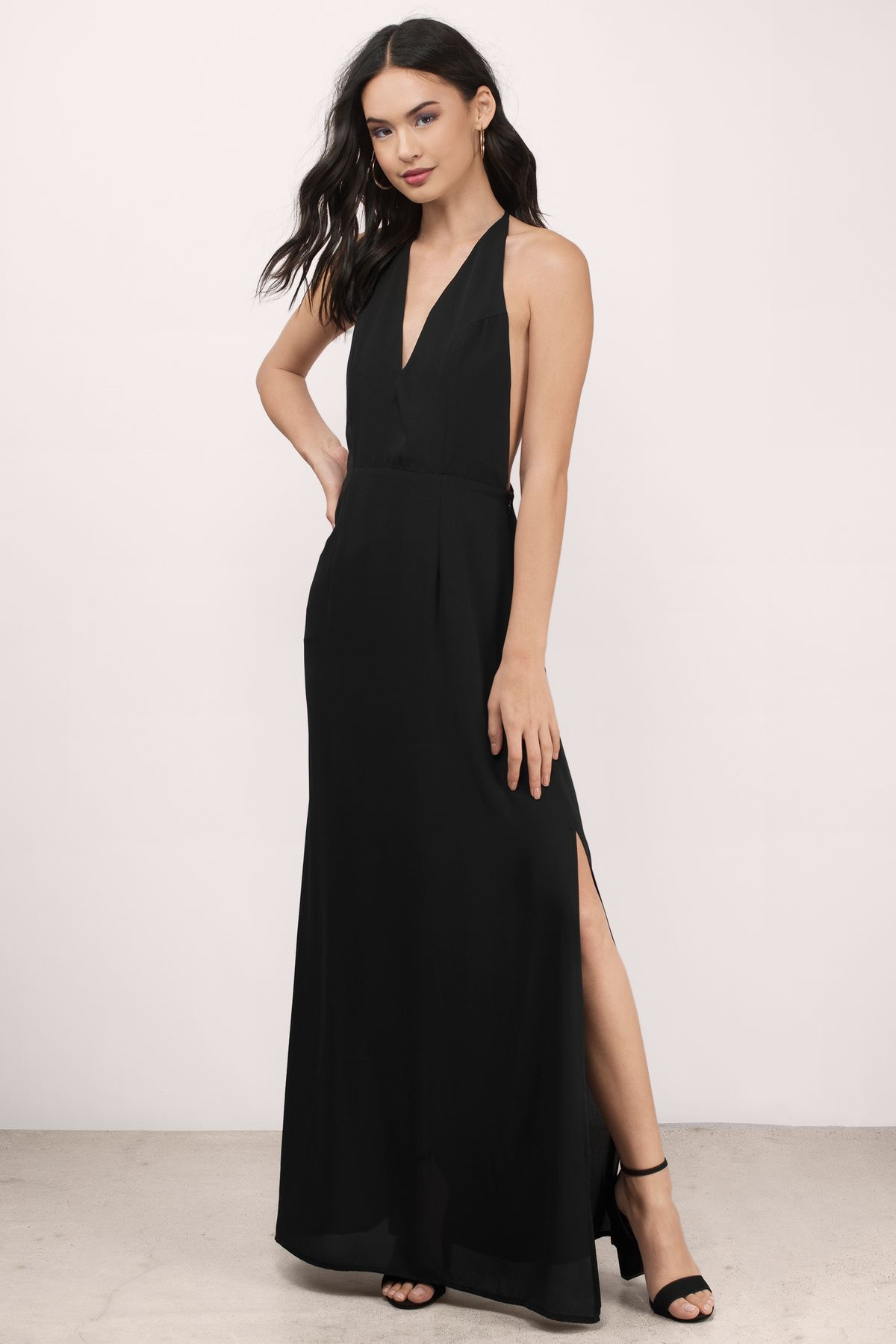 Glow Low Back Maxi Dress | Black tie party, Prom dance and Black maxi