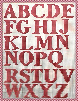Gráficos de letras em crochê siga o passo a passo - Assim eu Quero. Gráfico  do Alfabeto para Crochê 2e449b727a5
