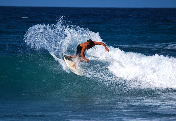 Surfing at Soup Bowl Barbados