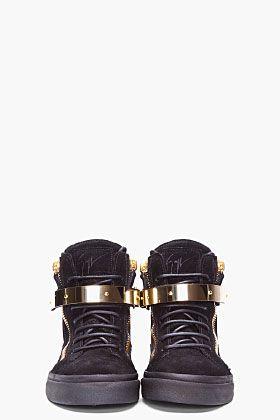 Zanotti SneakersHardcore Love Trim August Giuseppe Gold Black 4RLjA53