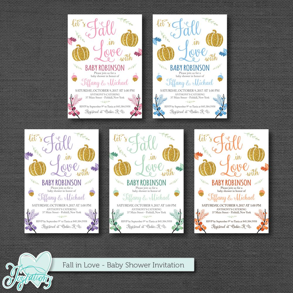 fall in love baby shower invitation printable by joytations on