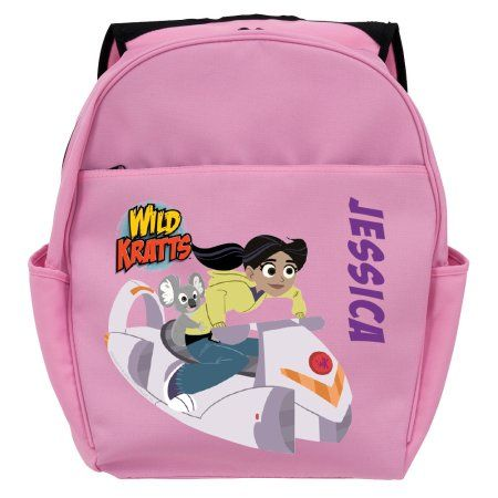 def54d3c708f Personalized Wild Kratts Aviva and Koalaballoon Pink Toddler Backpack