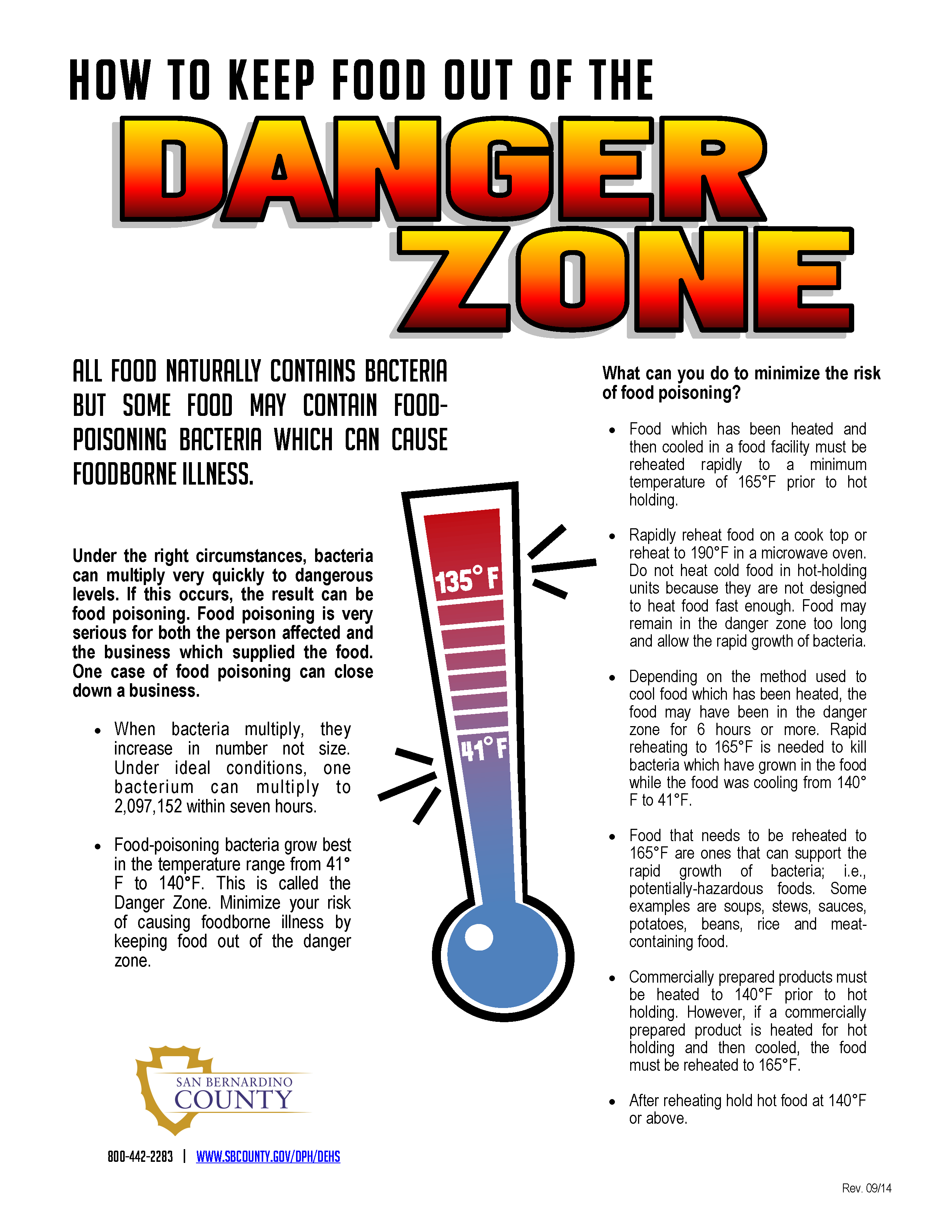 Do You Know How To Keep Your Food Out Of The Dangerzone
