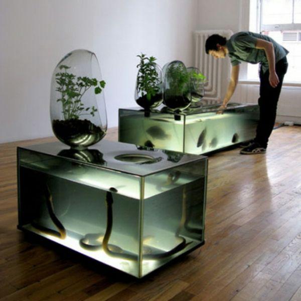 L Aquarium Meuble Dans La Deco Archzine Fr Aquaponie Aquaponique Diy Mobilier Design