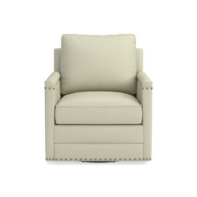 Pleasant Addison Swivel Chair Nailhead Standard Cushion Faux Suede Pabps2019 Chair Design Images Pabps2019Com