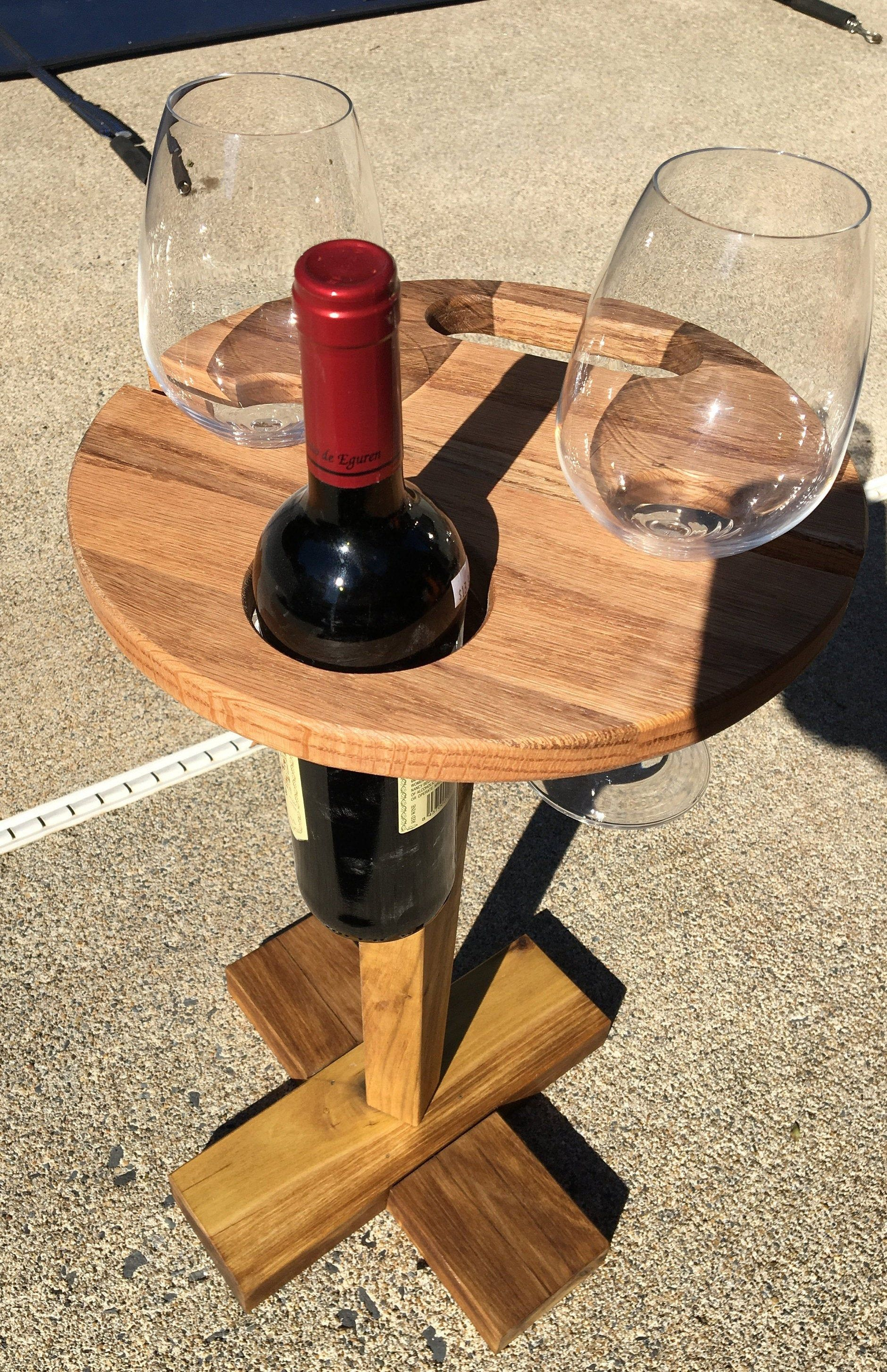 Convertible Portable Wine Bottle Stand Patio Picnic Beach