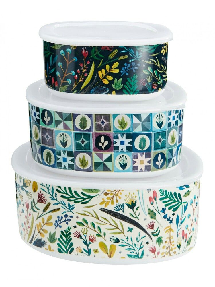 Mozi 3 storage bowls floral or forest Products I Love - studio profi küchenmaschine