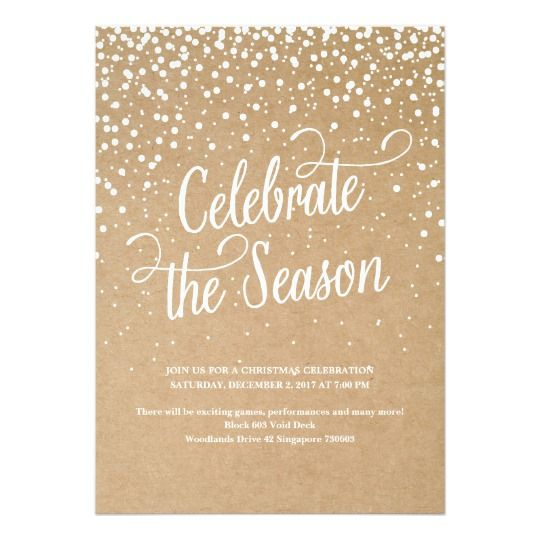 FIRST SNOW HOLIDAY PARTY INVITATION Sunday school Pinterest - holiday party invitation