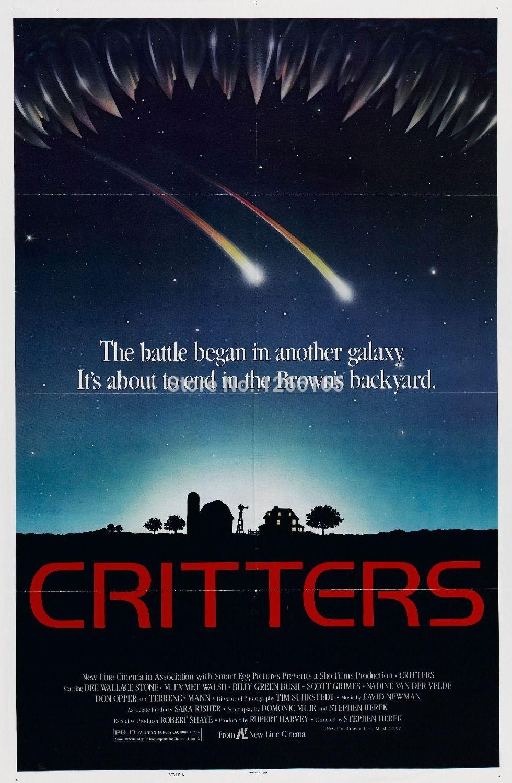 critters movie poster sci fi horror 80s aliens polish art