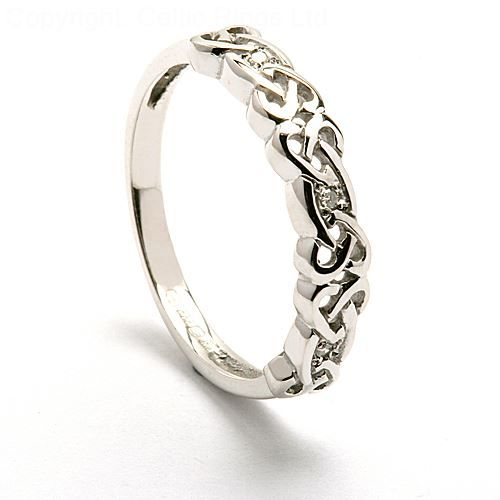 Sibeal Ladies Celtic Diamond Ring Celtic Wedding Rings Jewelry