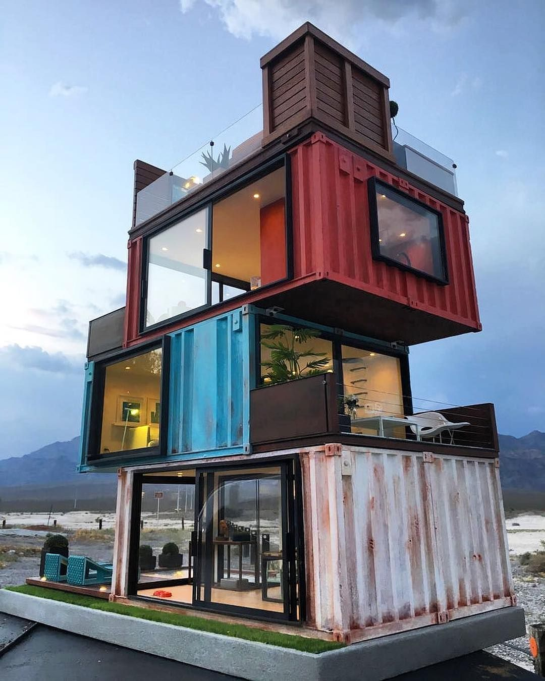 Stacked #containers By Cargotecture. #architecture On