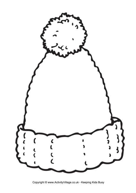 Woolly Hat Writing Frame Wooly Hats Coloring Pages