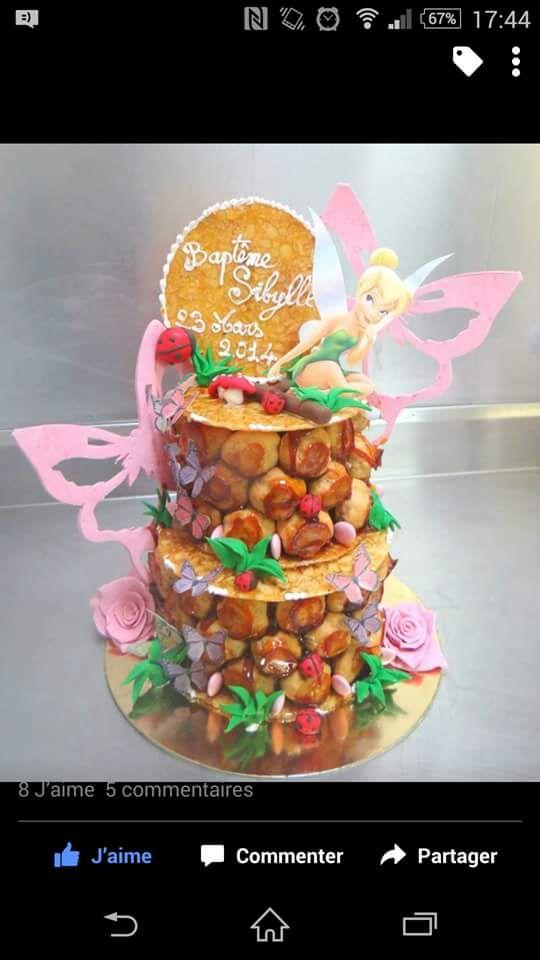 Pi ce mont e f e clochette bapteme cake birthday cake et desserts - Image de la fee clochette ...