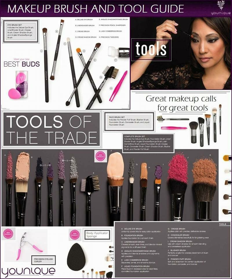 Makeup Brush & Tool Guide! Younique www.youniqueproducts