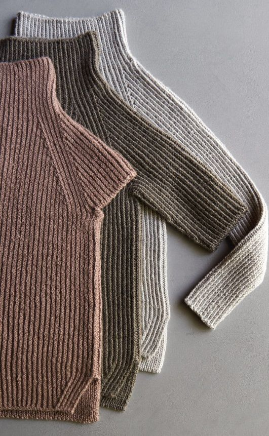 Свитер узором Резинка спицами   Knitting/Вязание спицами ...