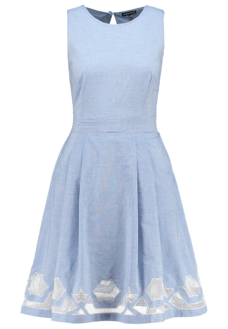 38d4a410f96 Warehouse Women Casual Dresses Summer dress - light blue
