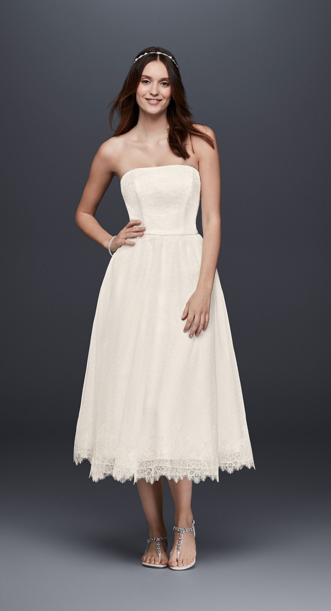 Casual wedding dresses with sleeves  This short and flirty dress is perfect for any of your wedding