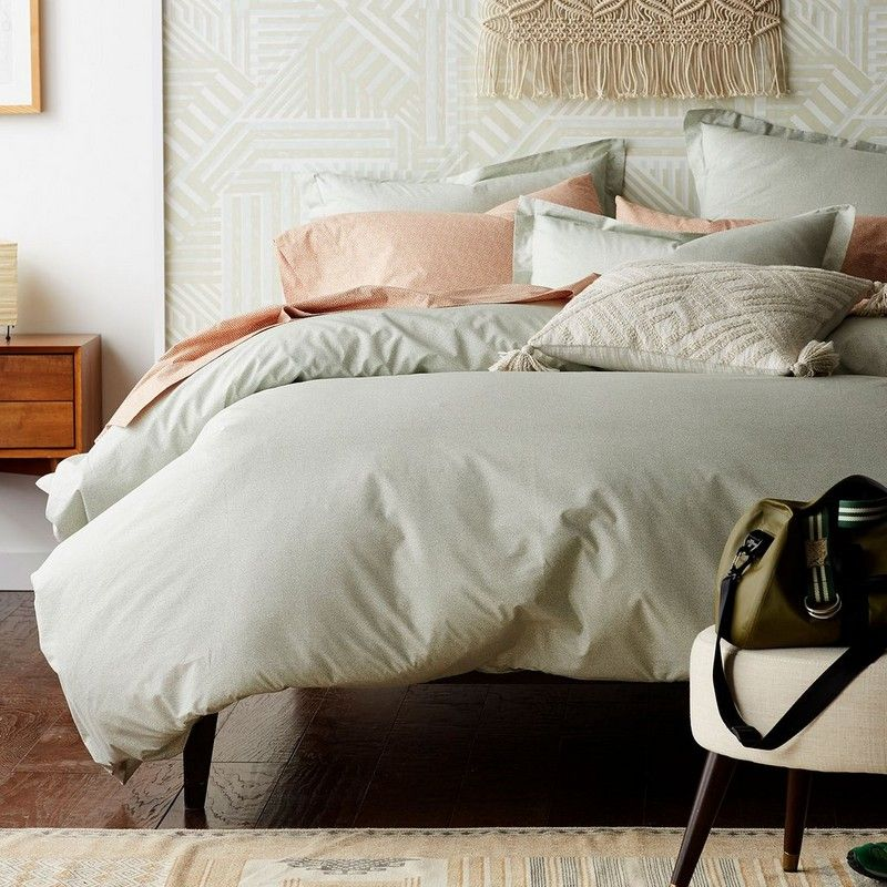 Crafted Of Smooth 200 Thread Count 100 Cotton Percale This Marble Like Patterned Duvet Cover Adds Dimension To Your Spre Duvet Covers Best Bedding Sets Home