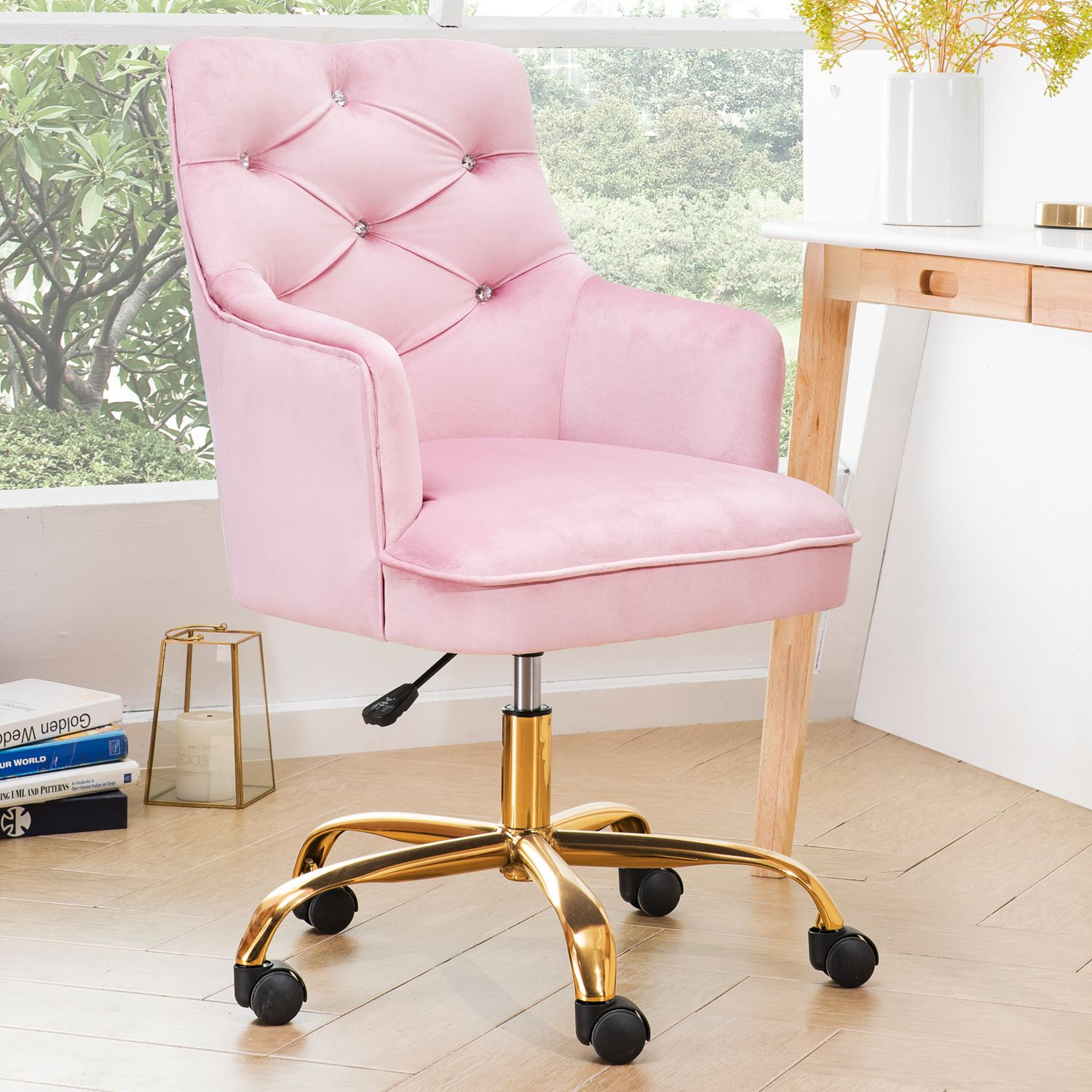 Home In 2020 Cute Desk Chair Velvet Office Chair Home Office Chairs
