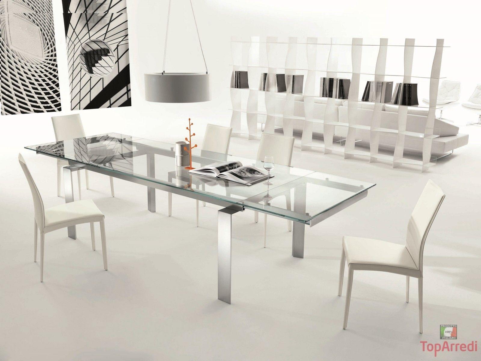 Tavolo Allungabile Moderno Cristallo.Tavolo Moderno Allungabile Label Tavolo Moderno Tavolo Da