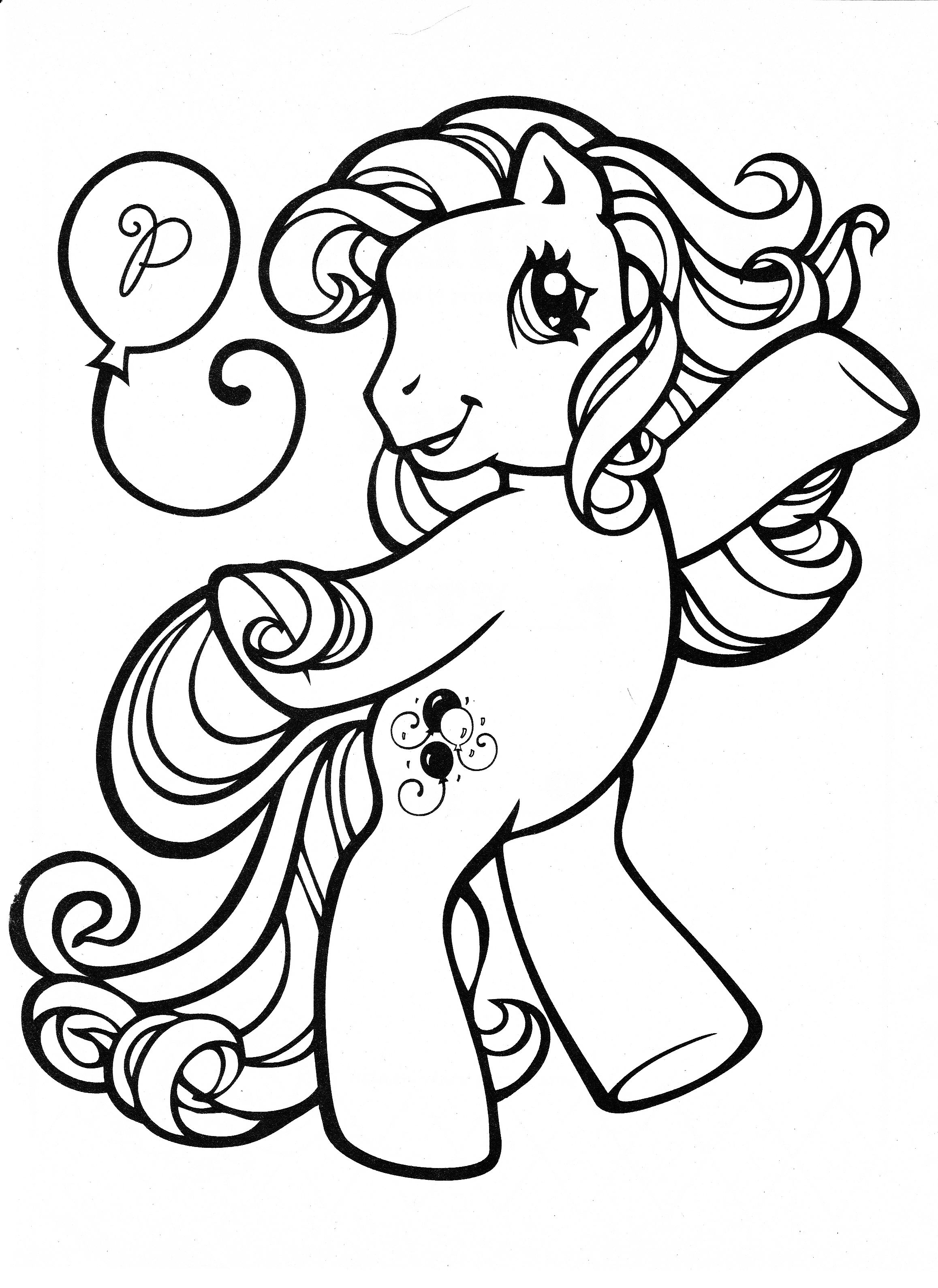 My Little Pony Coloring Page Mlp Pinkie Pie Color