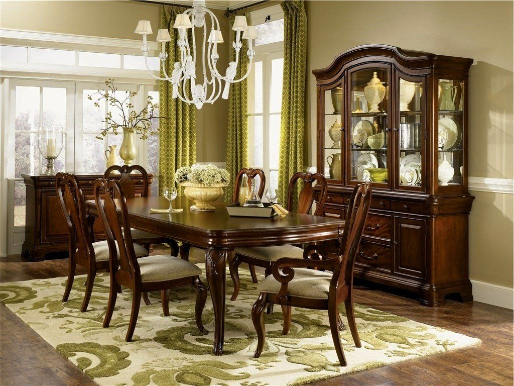 Manchester Heights Cherry Wood Dining Room Set