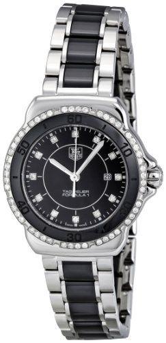 c81626c7504 Tag Heuer Women s WAH1312.BA0867 Formula 1 Black Dial Dress Watch TAG Heuer