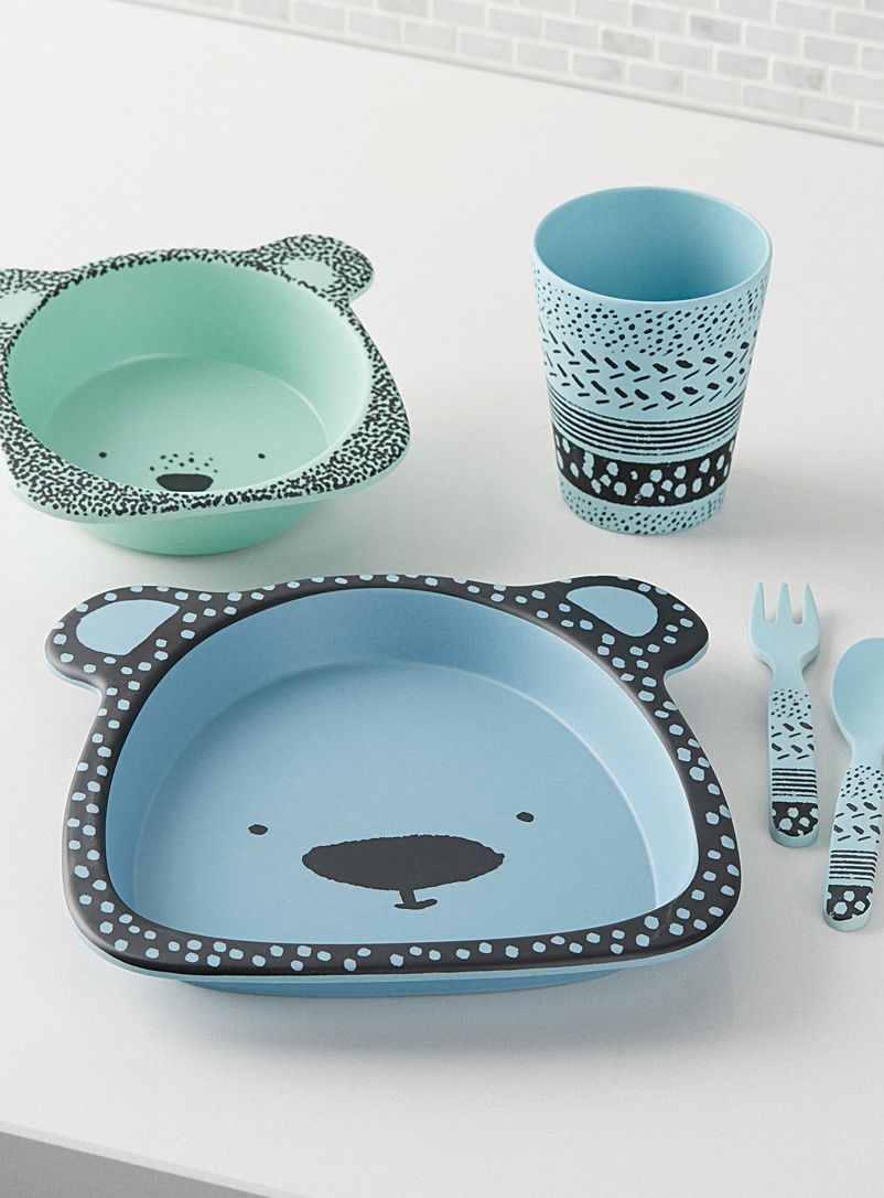 Blue bear bamboo tablewear Five-piece set | Simons Maison | Shop ...