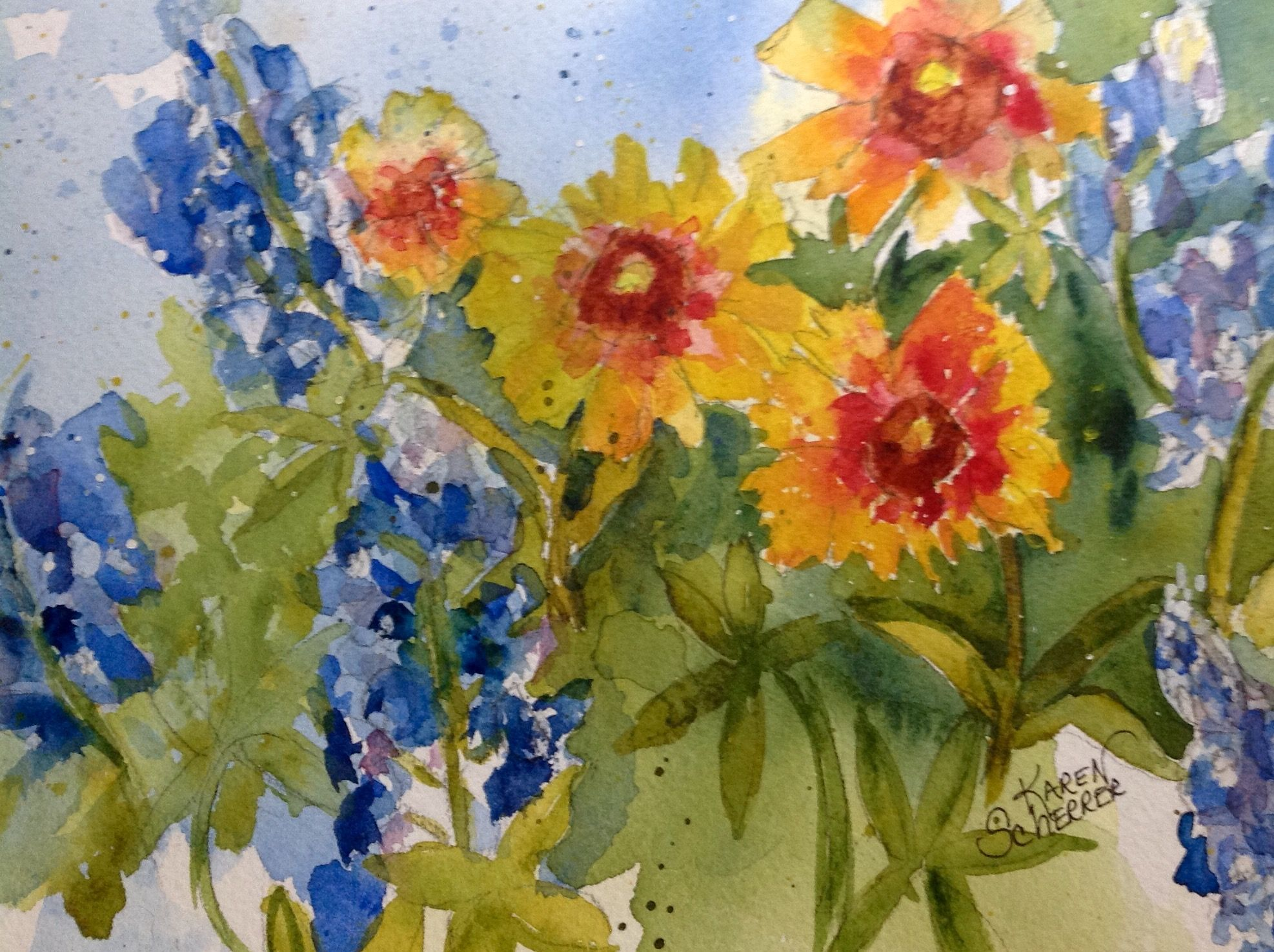 Watercolor artist in texas -  More Wild Thangs By Texas Watercolor Artist Karen Scherrer