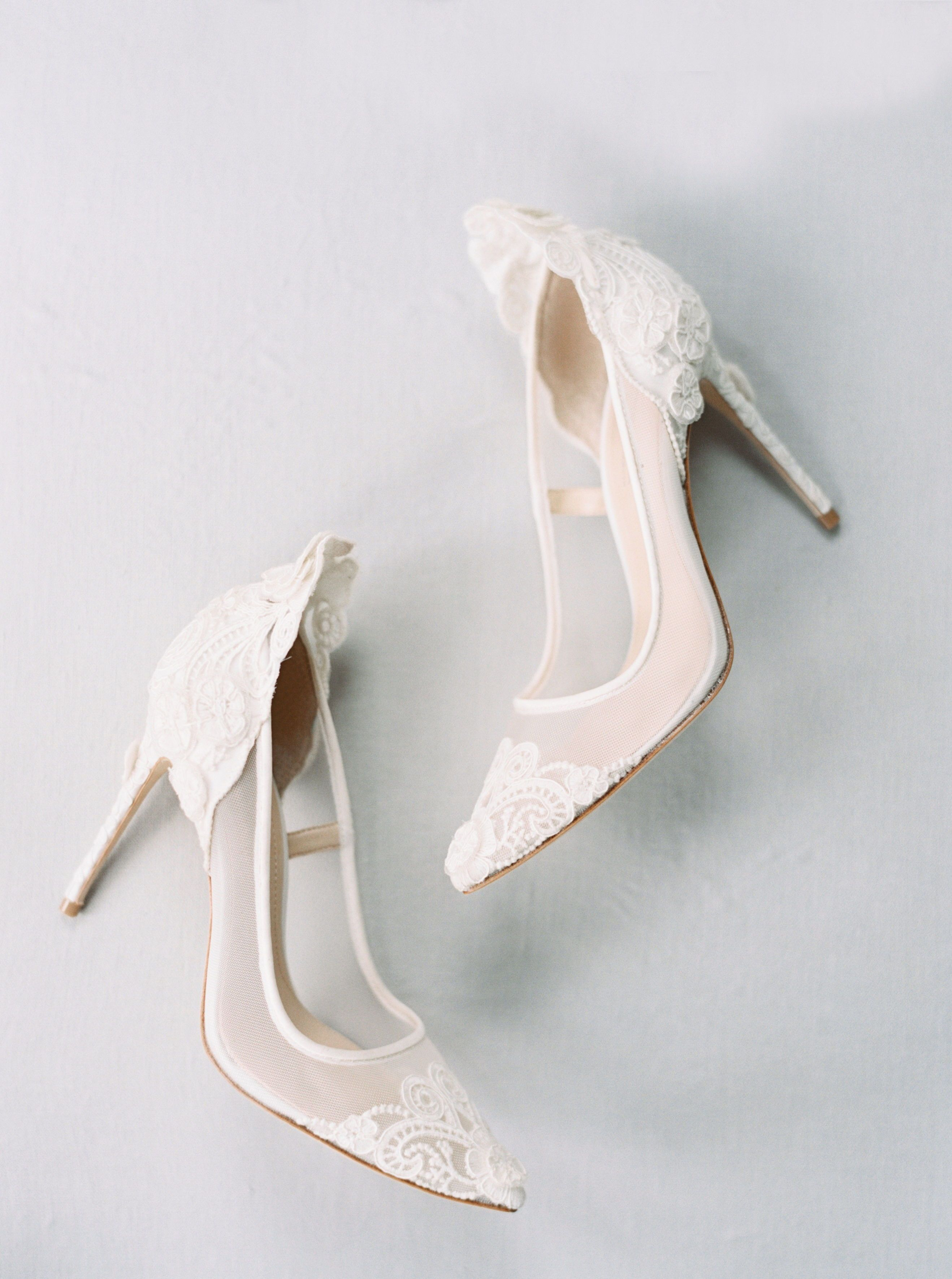 Simple White Lace And Mesh White Wedding Heels Vince Camuto Victoria Pumps White Heels Wedding Simple Wedding Shoes Wedding Shoes