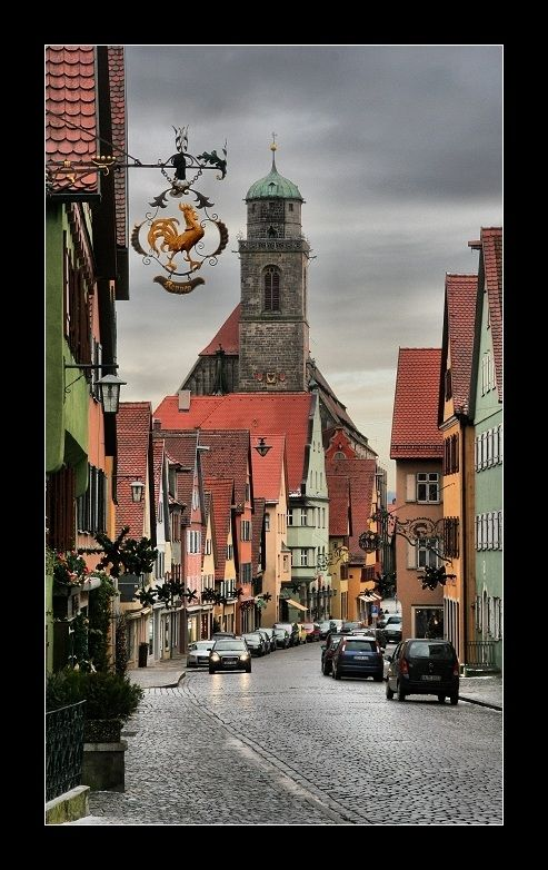 Dinkelsbuhl, Germany!  I've been there and I so want to go back!  They have a yearly festival I dream of attending one day.