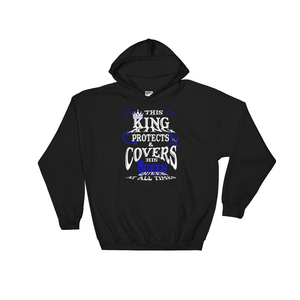 This Queen Protects & Covers His Queen - Blue Highlight Hooded Sweatshirt