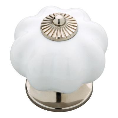 Liberty 1.6 in. Vintage Style White Ceramic Finial Knob-KNW001-WSN-C ...
