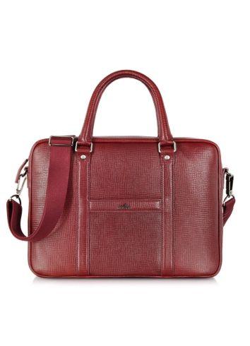 7553f1f79f446 Hogan - Restyling Aktentasche aus Leder in bordeaux Tablet Tasche
